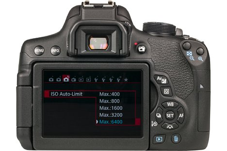 Bild Auf der Rückseite verfügen die Canon EOS 750D und 760D über einen dreh- und schwenkbaren Touchscreen. Dieser misst 7,5 Zentimeter in der Diagonalen und löst knapp eine Million Bildpunkte auf. [Foto: MediaNord]