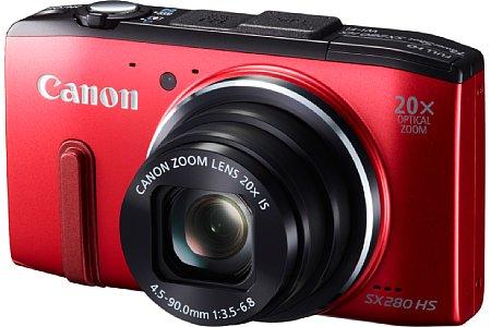 Bild Die Canon PowerShot SX280 HS soll neben Schwarz auch in Rot verkauft werden, die Markteinführung ist für den Mai 2013 geplant. [Foto: Canon]