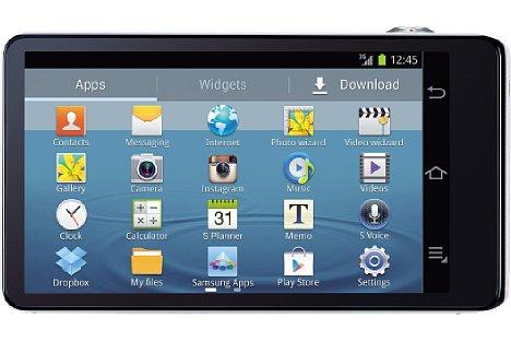 """Bild Auf der Rückseite verfügt die Samsung Galaxy Camera über einen 4,8"""" (12,1 cm) großen Touchscreen mit 2,76 Millionen Bildpunkten (1.280 x 720 Pixel Auflösung). [Foto: Samsung]"""