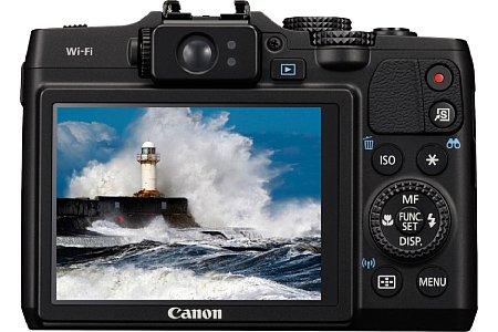 Bild Der drei Zoll große Bildschirm der Canon PowerShot G16 ist dagegen weiterhin fest verbaut. [Foto: Canon]