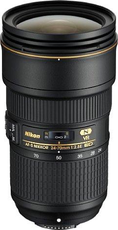 Bild Das neue Nikon AF-S 24-70 mm 1:2.8E ED VR besitzt nicht nur einen optischen Bildstabilisator (4 EV), sondern auch eine neue optische Konstruktion mit einem asphärischen ED-Element und der Nanokristallvergütung. [Foto: Nikon]