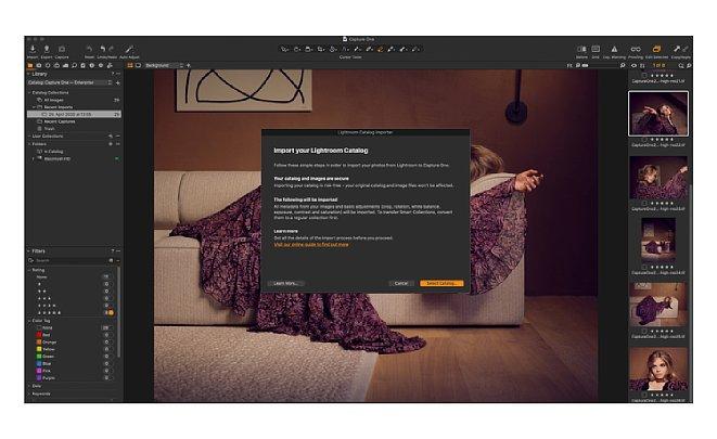 Bild Mit verschiedenen Importfunktionen können Lightroom-Kataloge und Ordner in Capture One 21 importiert werden. [Foto: Capture One]