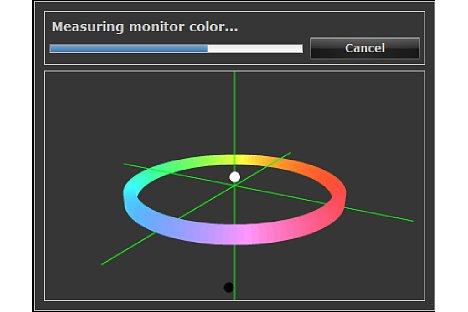 Bild Der ColorNavigator zeigt dem Anwender während der Kalibration die aktuell gemessenen Werte grafisch an. [Foto: MediaNord]
