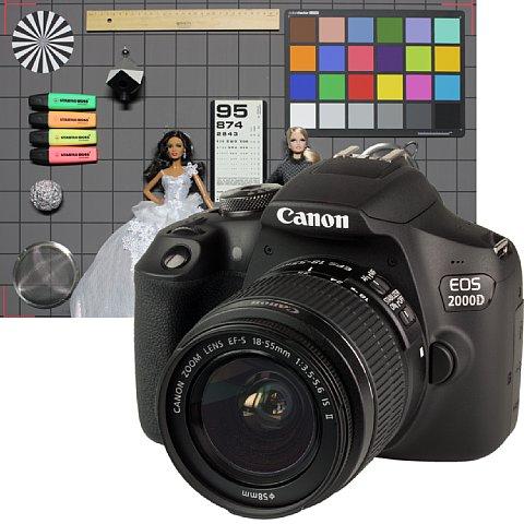 Vorschau des photographierten Testbildes mit Kamera