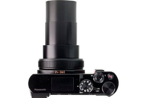 Bild Mit maximalem Zoom wird die DC-TZ202 etwa 12 cm tief. [Foto: MediaNord]