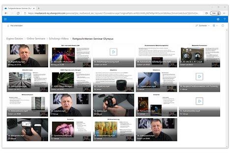 Bild Das Olympus-Fortgeschrittenenseminar besteht aus insgesamt 19 Einzelvideos mit einer Gesamtdauer von fast 4,5 Stunden. [Foto: MediaNord]