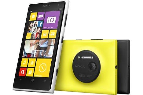 Bild Das Nokia Lumia 1020 gibt es in drei Farbvarianten: Weiß, Gelb und Schwarz [Foto: Nokia]