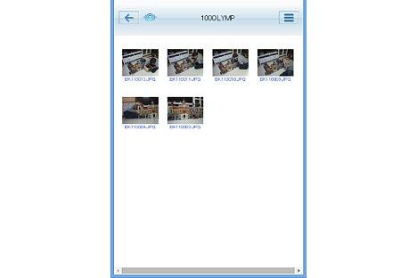 Bild Über den Webbrowser können die Bilder auf der Speicherkarte angezeigt werden. [Foto: MediaNord]
