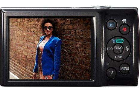Bild Das 2,7 Zoll große Display der Canon Digital Ixus 145 löst 230.000 Bildpunkte auf. [Foto: Canon]