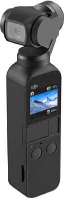 Der DJI Osmo Pocket ist eine All-in-One-Gimbal-Kamera. Der kleine eingebaute Touchscreen dient als Sucher und zur Bedienung der Kamera. [Foto: DJI]