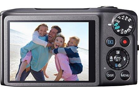 Bild Der rückwärtige 7,5-cm-Bildschirm der Canon PowerShot SX270HS löst 460.000 Bildpunkte auf und wird von einer kratzfesten Glasscheibe geschützt. [Foto: Canon]