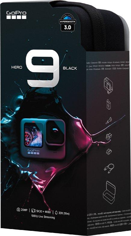 Bild Die GoPro Hero9 kommt statt in der unpraktischen Plastik-Vitrinen-Verpackung direkt in einer praktischen Aufbewahrungstasche. [Foto: GoPro]
