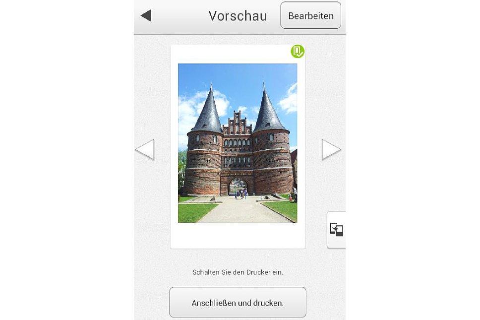 Bild Die Instax Share-App gibt es für iOS und Android. [Foto: MediaNord]