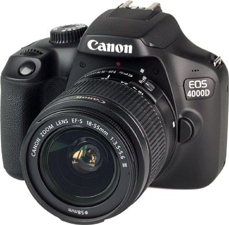 Bild Das Setobjektiv der Canon EOS 4000D besitzt nicht einmal einen Bildstabilisator. [Foto: MediaNord]