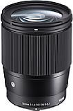 Beim Sigma 16 mm F1,4 DC DN Contemporary handelt es sich um ein APS-C-Objektiv für Sony E und Micro Four Thirds. Es entspricht damit einem 24 mm bzw. einem 32 mm Kleinbildobjektiv. [Foto: Sigma]