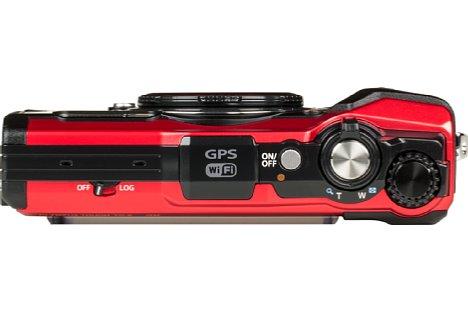 Bild Auf der Oberseite der TG-6 sind die Bedienelemente und auch die GPS-Antenne leicht erkennbar. [Foto: MediaNord]