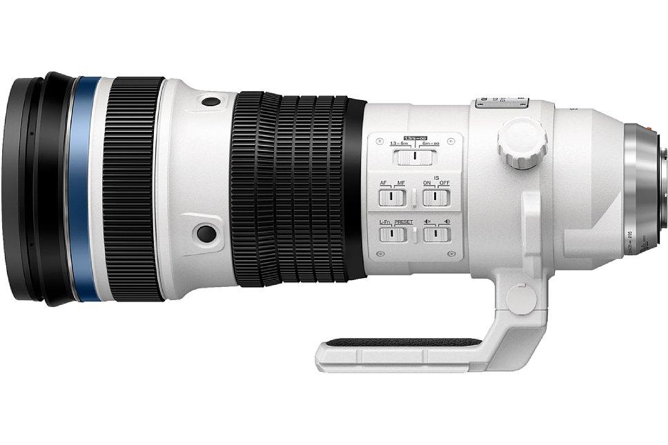 Bild Das Olympus 150-400 mm 4.5 ED TC1.25x IS Pro bietet zahlreiche Bedienelemente, darunter einen Fokus-Limiter und einen Fokus-Speicher. [Foto: Olympus]