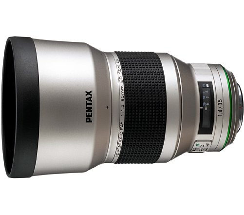 Bild Pentax HD DFA * 85 mm 1.4 SDM AW Silver Edition. [Foto: Pentax]