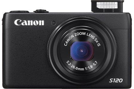 Bild Außerdem ist das Objektiv der Canon PowerShot S120 im Weitwinkel von 24 Millimeter (KB) nun F1,8 lichtstark, bei 120 Millimeter hingegen bleibt es bei lichtschwachen F5,7. [Foto: Canon]