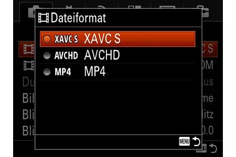 Bild Die Sony Alpha 7 II zeichnet Filme auch im Format XAVC-S mit bis zu 50 Mb/s auf. [Foto: Martin Vieten]