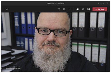 Bild Auch wenn die nominale Auflösung gar nicht hoch ist, sieht das Bildergebnis beim Gesprächspartner doch sehr viel besser aus als mit einer gewöhnlichen Webcam. [Foto: MediaNord]
