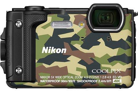 Bild Nikon Coolpix W300 in Camouflage. [Foto: Nikon]