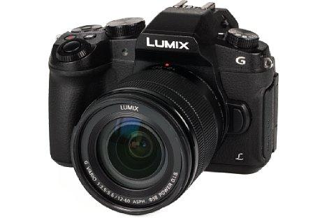 Bild Das aus Kunststoff und Leichtmetall gefertigte Gehäuse der Panasonic Lumix DMC-G81 ist wie das 12-60mm-Setobjektiv gegen das Eindringen von Staub und Spritzwasser abgedichtet. [Foto: MediaNord]