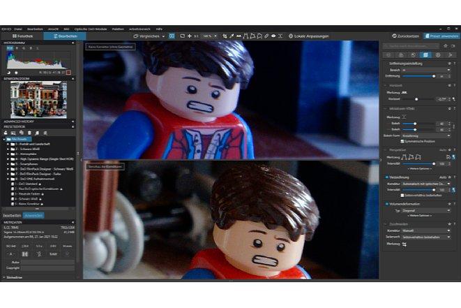 Bild Im direkten Vergleich ist der Unterschied sehr gut zu sehen. Das obere Bild zeigtzur besseren Unterscheidung der Bilder auch keinen korrekten Weißabgleich. [Foto: Medianord]