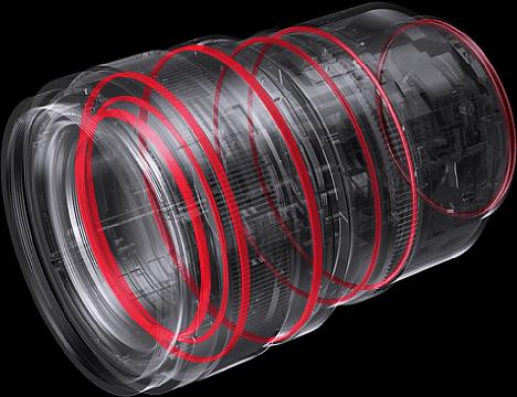 """Bild Zahlreiche Dichtungen sorgen beim Metallgehäuse desPanasonic S Pro 50 mm F1,4 (S-X50E) für den """"Umweltschutz"""". [Foto: Panasonic]"""