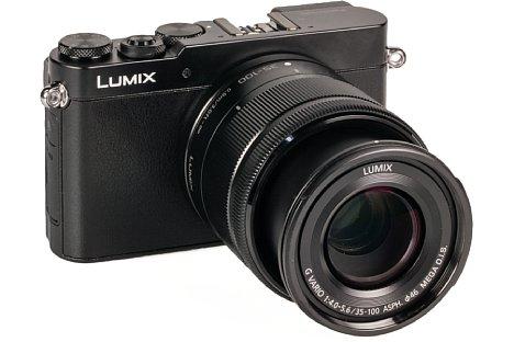 Bild Original wurde das Panasonic Lumix G Vario 35-100 mm 4-5.6 Asph. O.I.S. für die Lumix-GM-Serie designt, wie für die GM5 hier im Bild. Die Linse macht aber auch an anderen MFT-Kameras eine gute Figur. [Foto: MediaNord]