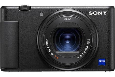 """Bild Die Sony ZV-1 ähnelt der RX100-Reihe sehr und besitzt ein ähnliches, aber mit Handgriff ausgestattetes Gehäuse, einen 20 Megapixel auflösenden 1""""-Bildsensor sowie ein F1,8-2,8 24-70 mm Zoom. [Foto: Sony]"""