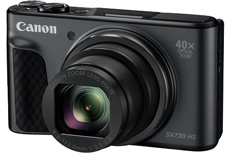 Bild Die Canon PowerShot SX730 HS besitzt ein von umgerechnet 24 bis 960 Millimeter zoomstarkes, aber mit F3,3-6,9 auch lichtschwaches Objektiv mit integriertem Bildstabilisator. [Foto: Canon]
