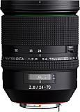 Das Pentax HD DFA 24-70 mm F2.8 ED SDM WR besitzt ein Kunststoffgehäuse mit breitem Fokusring. [Foto: Pentax]