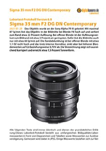 Sigma 35 mm F2 DG DN Contemporary mit Sony Alpha 7R III Labortest, Seite 1 [Foto: MediaNord]