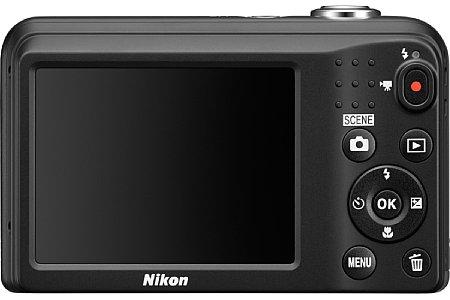 Bild Auch das rückwärtige LC-Display der Nikon Coolpix A10 ist identisch zu dem der A100: 6,7 Zentimeter groß und 230.000 Bildpunkte auflösend. [Foto: Nikon]