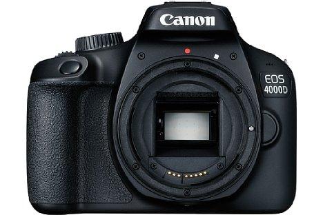 Bild Zwar hat das sicher niemand vermisst, aber Canon bringt mit der EOS 4000D trotzdem das Plastikbajonett zurück. [Foto: Canon]