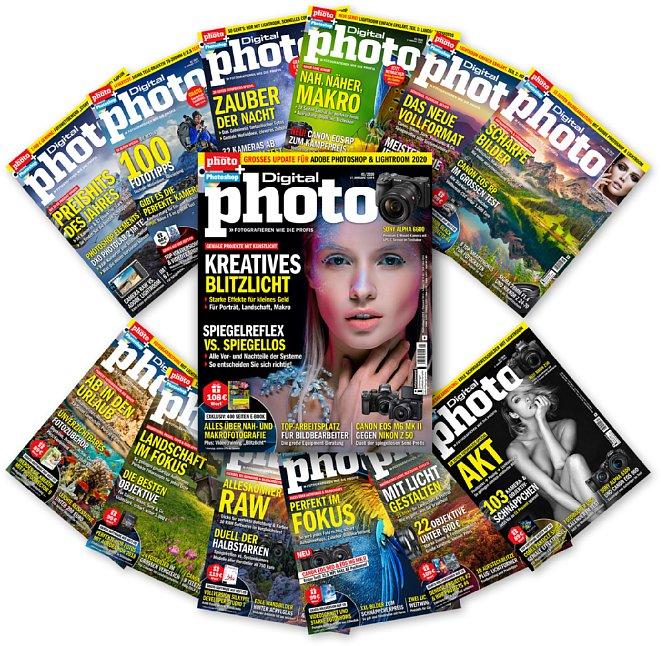 Bild DigitalPhoto Zeitschriften Jahrgang 2019 + Januar 2020. [Foto: Falkemedia]