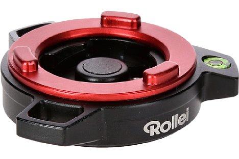 Bild Die Basisplatte des Rollei Schnellwechsel-System hat einen markanten Ring, der auch bei schlechten Lichtverhältnissen sichtbar bleibt. [Foto: Rollei]