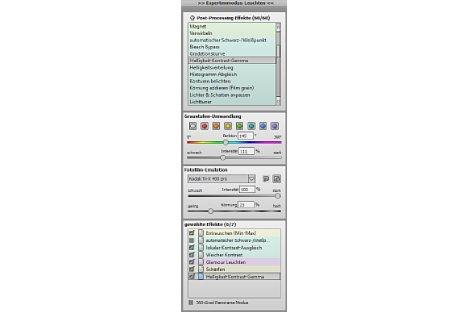 Bild Die Werkzeugleiste beinhaltet so viele Einstellungsmöglichkeiten, dass gescrollt werden muss. [Foto: MediaNord]