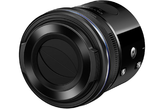 Bild Die Bundles der Olympus Air A01 mit dem Pencake-Zoomobjektiv 1442EZ enthalten auch jeweils den automatischem Objektivdeckel LC37C. [Foto: Olympus Japan]