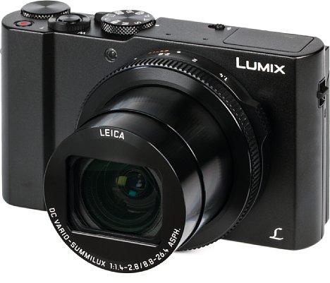 """Bild Die Panasonic Lumix DMC-LX15 glänzt in ihrer Klasse der kompakten 1""""-Kamera mit dem lichtstärksten Objektiv. Die Anfangsöffnung von F1,4 reduziert sich bei Zoomen jedoch rasant auf F2,8. [Foto: MediaNord]"""