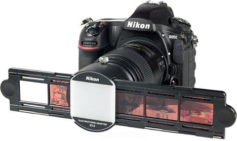 Bild Durch den Filmstreifenhalter wird die Konstruktion des ES-2 größer. [Foto: MediaNord]