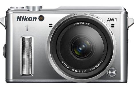 Bild Die Nikon Nikon 1 AW1 soll nicht nur in Schwarz, sondern auch in Silber und Weiß angeboten werden. [Foto: Nikon]