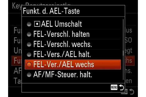 Bild Neu bei der Alpha 7 II ist die Funktion FEL (Flash Exposure Lock), die sich auf eine der Funktionstasten legen lässt. [Foto: Martin Vieten]