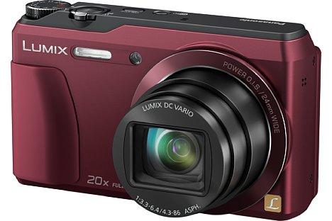 Bild Neben Schwarz soll die Panasonic Lumix DMC-TZ56 auch in Rot... [Foto: Panasonic]