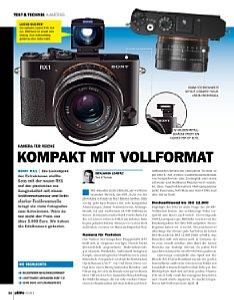 DigitalPhoto 03/2013 - Sony RX1 Kompakt im Vollformat [Foto: DigitalPhoto]