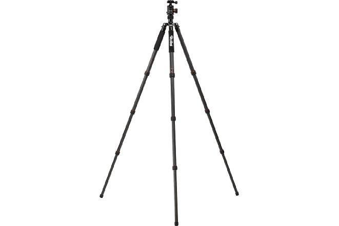 Bild Bei dem Rollei C6i Carbon beträgt die maximale Arbeitshöhe 171 cm. [Foto: Rollei]