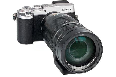 Bild Für ein gutes Handling braucht das Panasonic Leica DG Vario-Elmar 100-400 mm 4-6.3 Asph. Power OIS schon eine große Kamera mit vernünftigem Griff. Die Lumix DMC-GX8 ist da schon arg grenzwertig. [Foto: MediaNord]