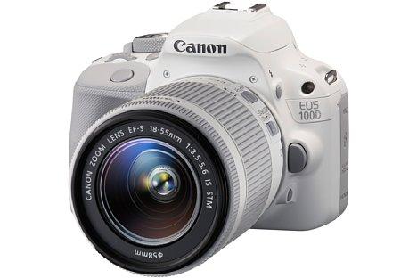 Bild Das Canon EOS 100D White Edition Kit mit EF-S 18-55 mm 3.5-5.6 STM kommt nun auch nach Deutschland. [Foto: Canon]