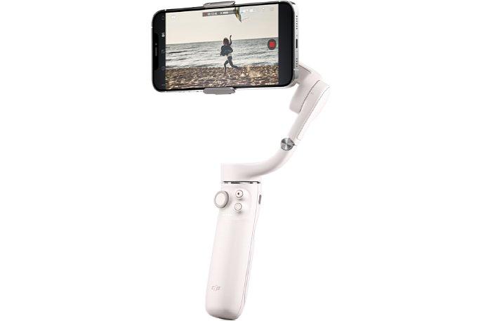 Bild DHI OM 5 Smartphone-Gimbal in der Farbe Sunset White. [Foto: DJI]